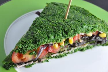 Calorie-arme Spinaziesandwich Zonder Bloem