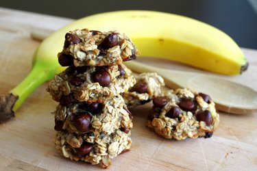 Bananen-Havermout Koekjes met 3 ingrediënten zonder bloem, suiker of ei