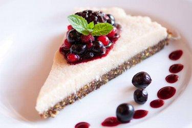 Gezonde Rauwe Veganistische Cheesecake (Glutenvrij)