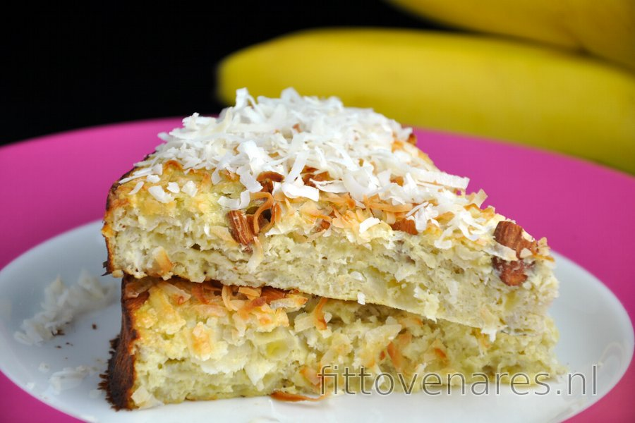 Gezonde Kokos-Banaantaart (Suikervrij en Glutenvrij)
