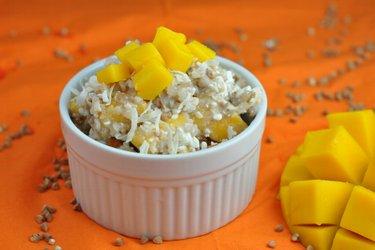 Gezonde salade met mango