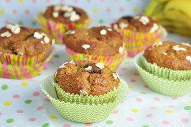 Gezond recept voor muffins met banaan en haver