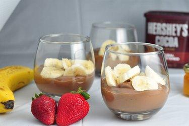Gezonde chocoladepudding met banaan