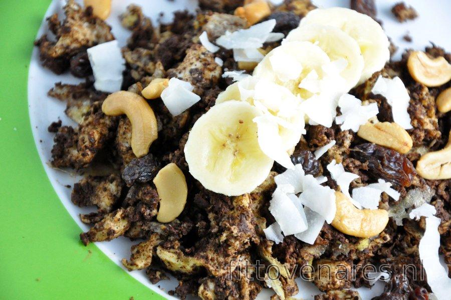 Banaan-Cacao Roerei