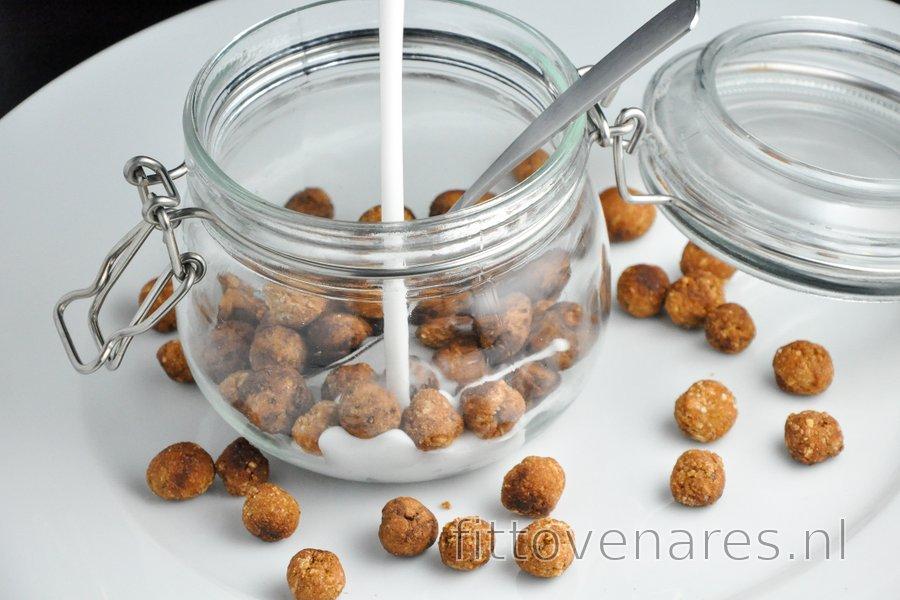 Gezonde Cruesli-bolletjes (vanille/cacao)
