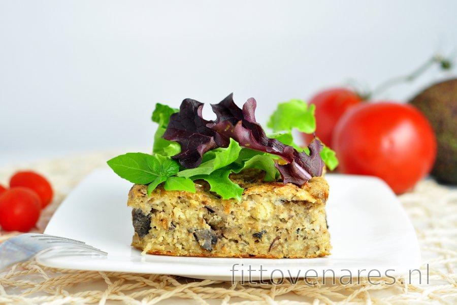Gebakken gierst met champignons en sardientjes