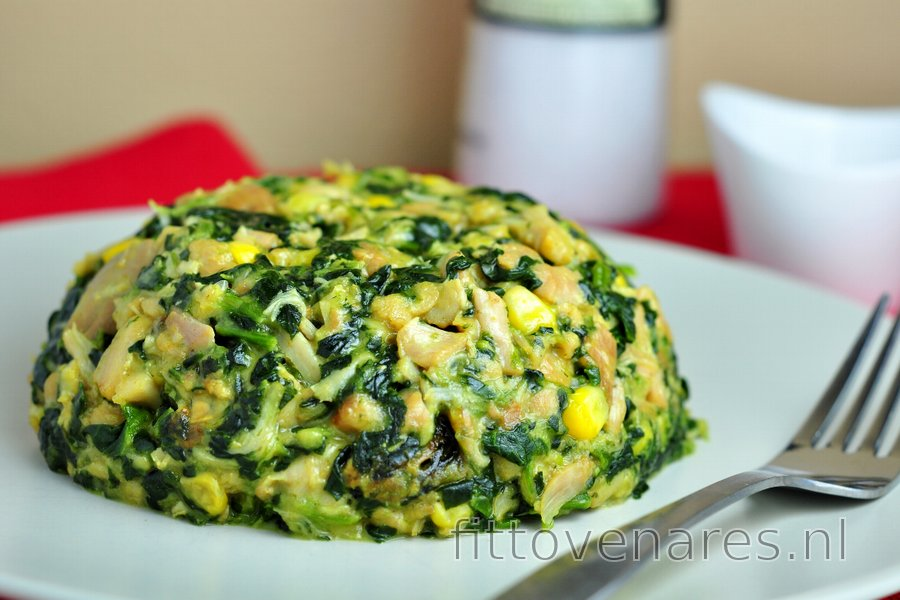 Gezonde kipfilets met spinazie