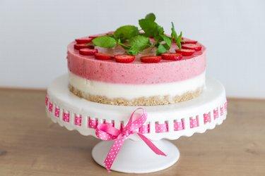 """Gezonde cake met yoghurt en aardbeien zonder oven """"Perfection"""""""