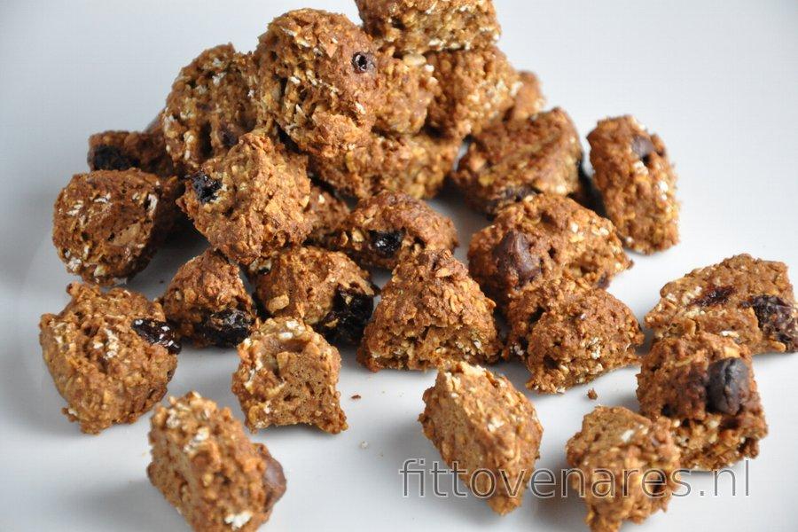 Gezonde Zelfgemaakte Cruesli Kokos en Chocola