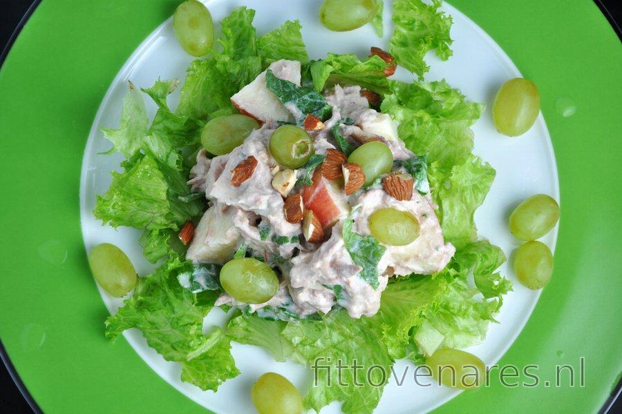 Gezonde Groente en Fruitsalade met Tonijn