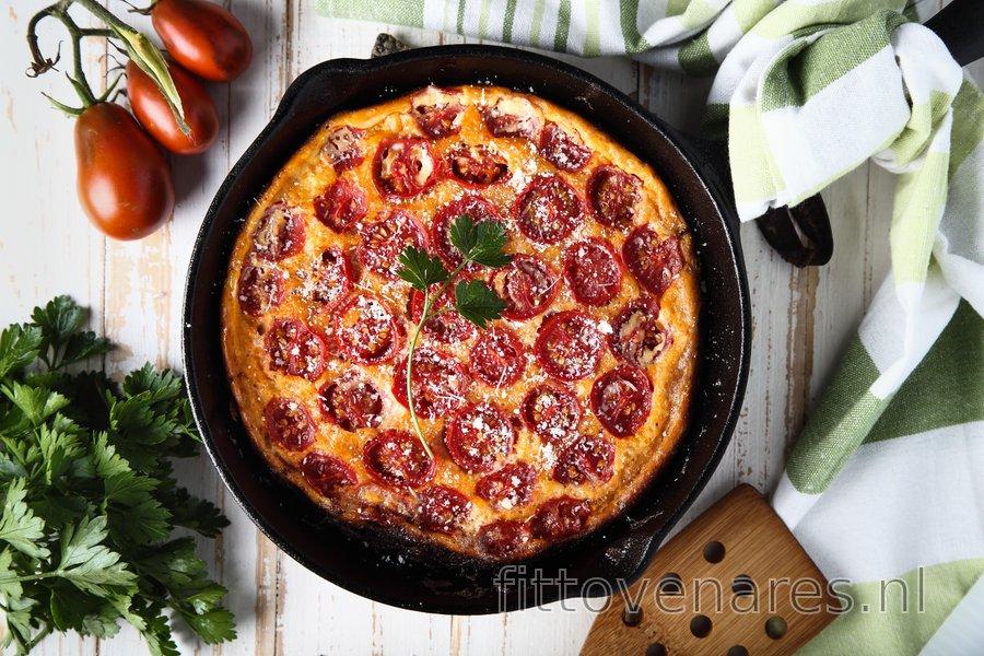 Koolhydraatarme tomaten-frittata