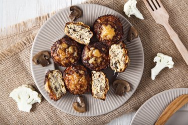 Slanke Bloemkoolpizza-muffins
