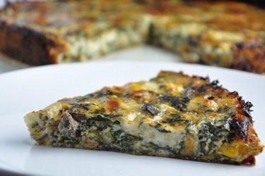 Glutenvrije Spinaziequiche