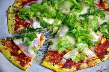 Gezonde Pizzabodem van Courgette